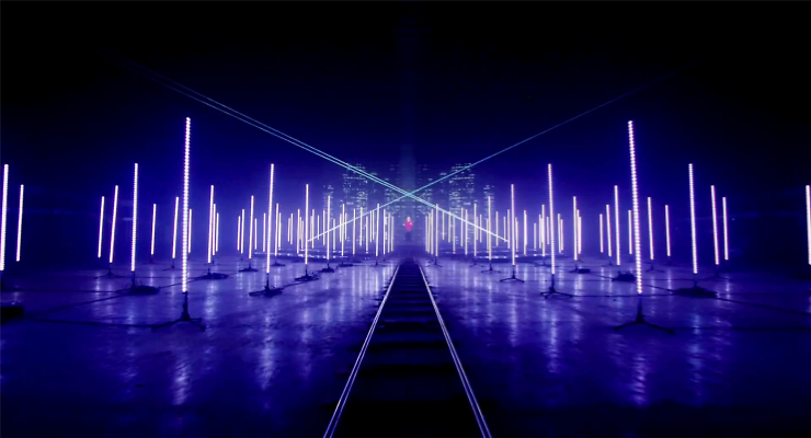 SGM Light l 3D Tubes Add Depth to Katy B Music Video