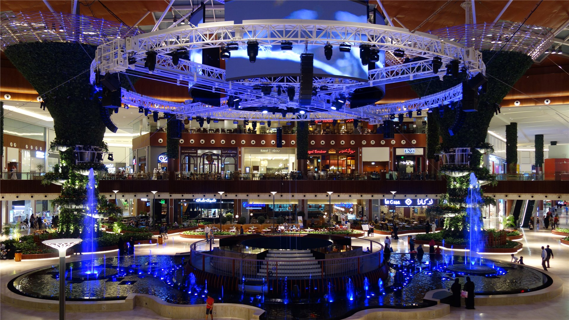 SGM Luminaires Chosen for Oasis Venue in Mall of Qatar