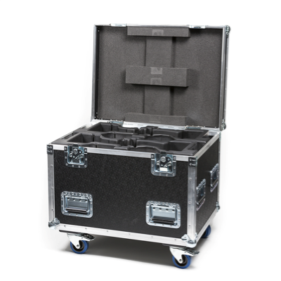 Flight Case for 4 pcs P·2, Q·2, Q·2 W & i·2 incl barndoors