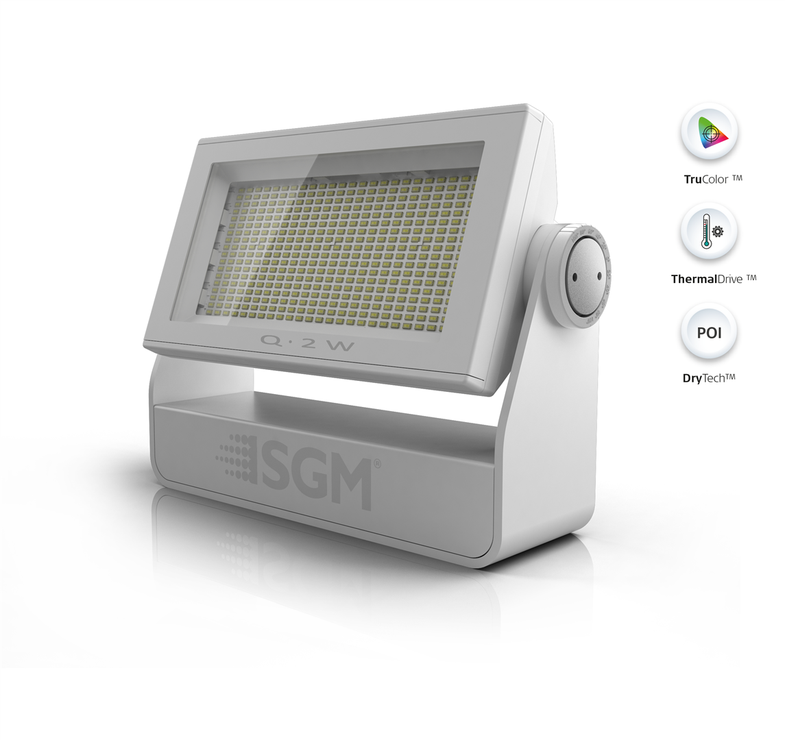 Q 2 W Poi L Ip66 Rated White Led Flood From Sgm Light